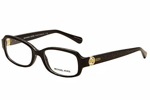 Michael Kors TABITHA V MK8016 Eyeglass Frames 3099-52 - Black/black Glitter MK8016-3099-52 (Black Michael Kors Frames)