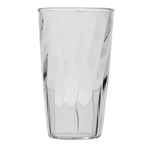 Carlisle 4366607 Swirl Tumbler, 12 oz, Clear, Polycarbonate (Case of 36)