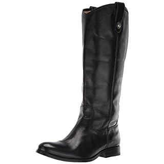Frye Women's Melissa Button Lug Tall Knee High Boot, Black, 6 M US