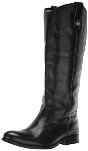 FRYE Women's Melissa Button Lug Tall Boot, Black, 6.5 M US (Frye Carson Lug Riding Boot Emily Maynard)