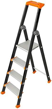 Tubesca - Escalera extra confort de aluminio pintado 4 peldaños Altura Acceso 2,89 m máx. - KOLOS: Amazon.es: Bricolaje y herramientas