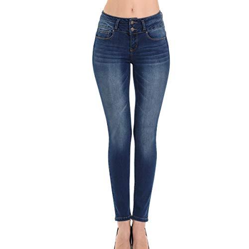 9d4c9ecb190 Wax Denim Womans Juniors Push Up Slim Fit Stretch Skinny Jean (Dark Wash, 13