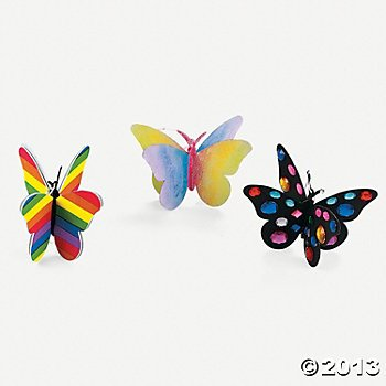 Beautiful Butterfly Craft Color Ornaments
