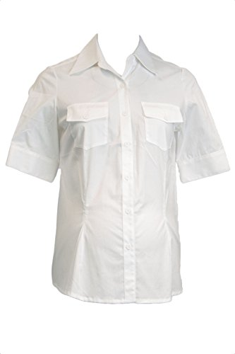 Olian Maternity Women's Button Down Short Sleeve Blouse X-Small ()