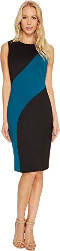 color block sheath dress - 8