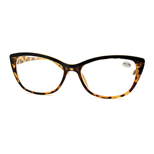 Clear Lens Glasses With Bifocal Reading Lens Womens Rectangular Cateye - Reading Bifocals Glasses