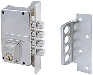 Yale 3010015 Cerradura de Sobreponer Alta Seguridad, Niquelado, Entrada 40 mm Derecha: Amazon.es: Bricolaje y herramientas