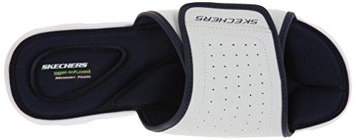 Skechers Sport Herren Wind Swell Slide Sandale Weiß / Navy