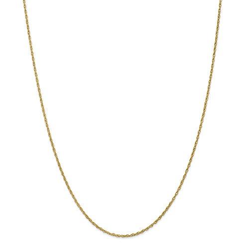 ICE CARATS 18k1.3mm Heavy Baby Link Rope Chain Necklace 24 Inch by ICE CARATS