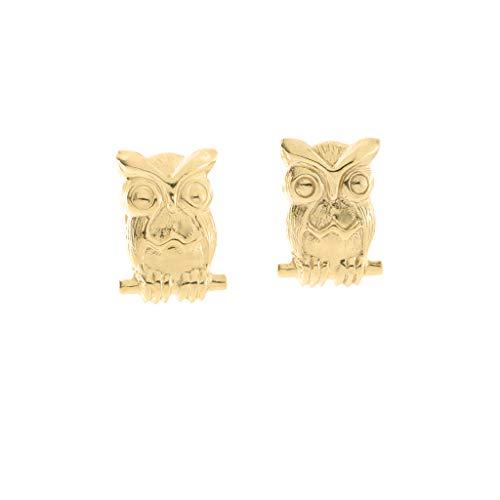 Gold Owl Yellow 14k (14k Yellow Gold Owl Stud Earrings)