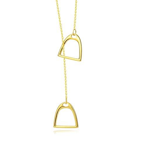 YFN Sterling Polished Strirrup Necklace