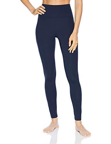 Amazon Brand - Core 10 Women's Standard Nearly Naked Yoga High Waist Full-Length Legging-28, Navy, Large