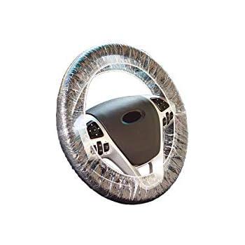 AUTUT 25 Pcs Elastic Trim Disposable Truck Car Steering Wheel Covers Films