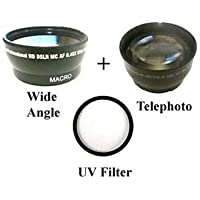 Wide Lens + TelePhoto Lens + UV Filter BUNDLE for Panasonic AG-HVX200, Panasonic AG-HVX200A