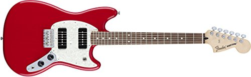 Vintage Fender Mustang (Fender 144040558 Mustang 90 Short Tcale Offset Electric Guitar - Rosewood Fingerboard - Torino Red)