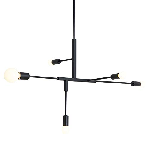 Contemporary Fashionable 5 Light Chandelier With Crystal Pendants in US - 3