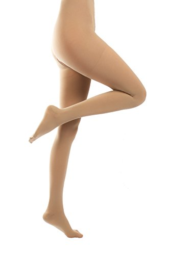 ®BeFit24 Medical Compression Pantyhose for Women (23-32 mmHg, 120 Denier, Class 2) - Best Support Hose for DVT, Varicose and Spider Veins - Pressure Tights for Swelling Relief - Beige