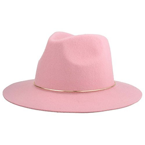 CYPER TOP Fashion Vintage Men Women's Wide Brim 100% Wool Fedora (Fedora Hat Ladies)