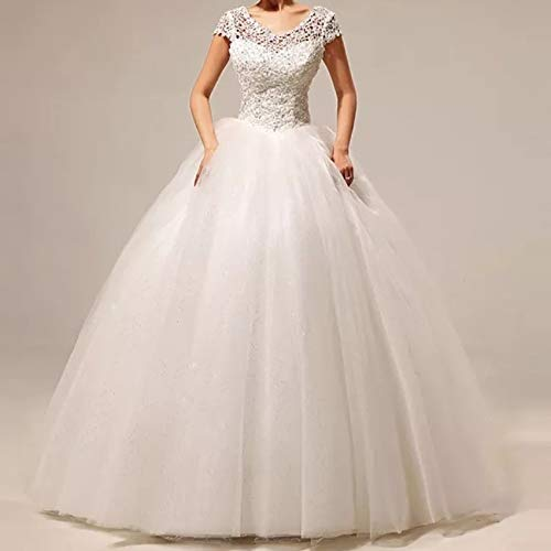 Buy Sharon S Bridal Women S Net And Crepe Full Stitched Ball Gown Dress With Skirt Gloves Veil And Crown White At Amazon In