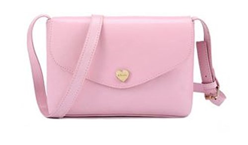 Women Fashion PU Leather Wallet Zip Around Purse Long Handbag (Pink) - 5