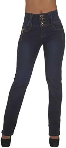 Style N545-1A-BT– Colombian Design, Butt Lift, High Waist, Boot Leg Jeans