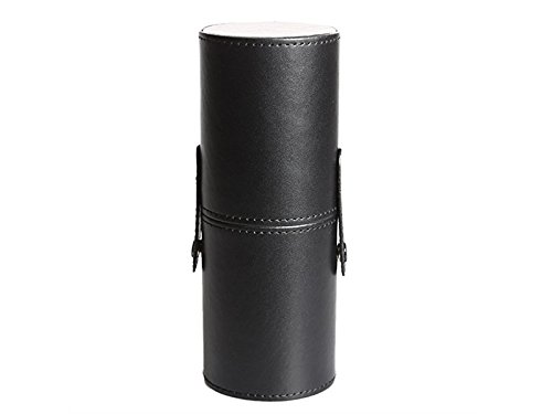 Hezon Leather Waterproof Cosmetic Brush and Pen Holder Storage Makeup Empty Holder (Black) EASY TO USE by Hezon