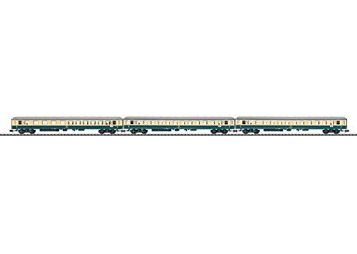 TYPE D796 3-CAR SET - READY TO RUN - MINITRIX -- GERMAN FEDERAL RAILROAD DB (ERA IV 1965, IVORY, BLUE)
