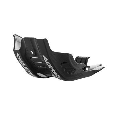 Acerbis Plastic MC Skid Plate with Linkage Guard Black/White for Husqvarna FX 450 2017-2018