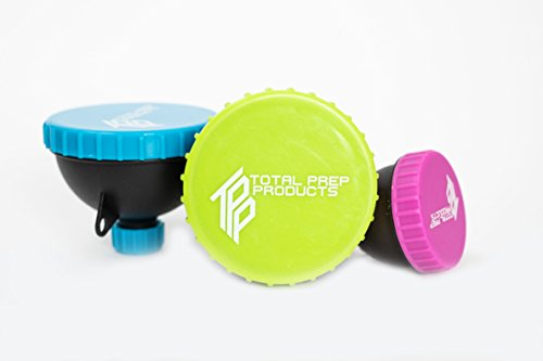 Total Prep Products Portable Protein Funnel BPA Free Non Toxic 3 Pack Multiple ()