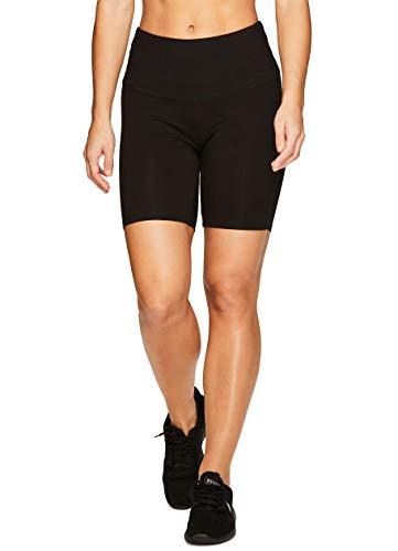RBX Active Women's Cotton Spandex High Waist Running Bike Shorts S-19 Black L