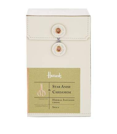 Harrods of London England Star Anise & Cardamom Loose-Leaf Herbal Tea (Pink Star Jasmine)