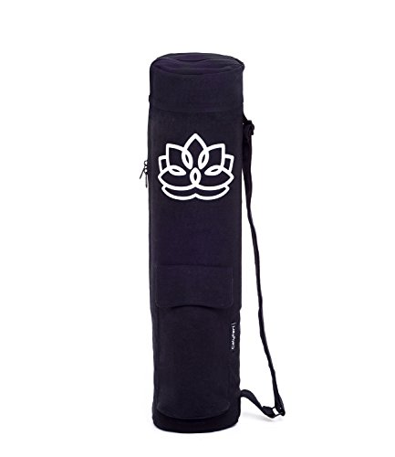 Calyteri Yoga Mat Bag | Full Zip and Large Storage Pockets | Yoga Mat Carrier Fits up to 1/4 inch Thick Mats Bonus eBook included