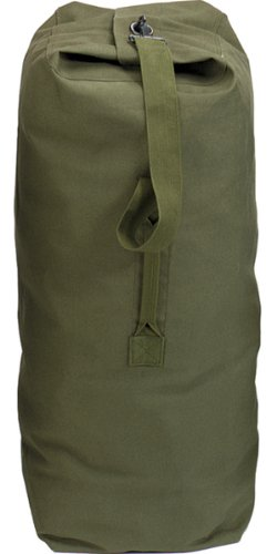 Olive Drab Jumbo Top Load Canvas Duffle Bag (25'' x 42'')
