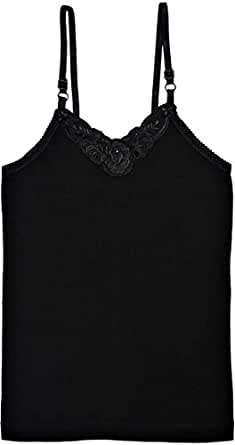 Mark-on Black Tank & Camisole For Girls
