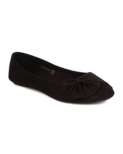 Women Faux Suede Bow Flat product image