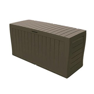 "Keter Marvel Plus All-Weather Indoor/Outdoor Brown Storage Bench (45.90""L x 15.60""W x 22.40""H)"