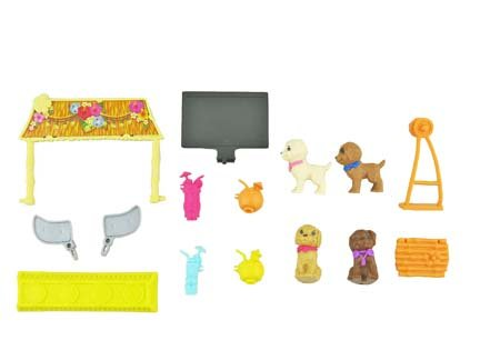 Fisher-Price Barbie Doll Ultimate Puppy Mobile #DLY33 - Replacement Parts - Includes: 4 Puppies, Drinks, TV, Tiki Bar, Swing & More!