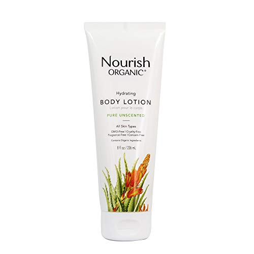 Nourish Organic Hydrating & Smoothing Body Lotion, Pure Unscented, 8 Fluid Ounce