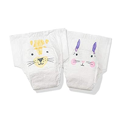 Kit & Kin Eco-Diapers*, 1-Month Supply (Size 2, 240 Disposable Diapers, 40 x 6 Packs, Rabbit & Leopard)