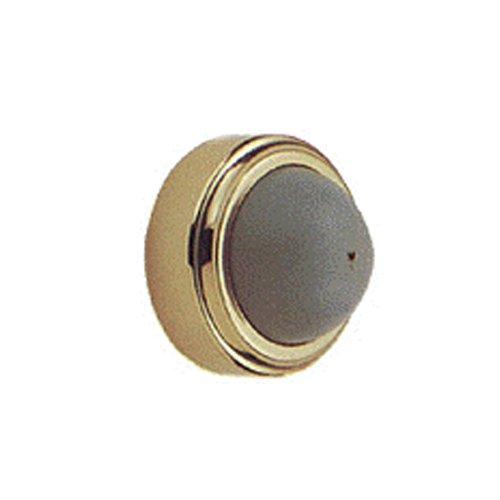 Baldwin 4252.030 Convex Wall Mounted Door Bumper, Polished Brass - (Convex Wall Door Stop)