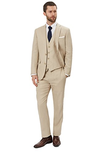 Kelaixiang 3pcs Formal Tuxedos Wedding Suit for Mens Ligh...