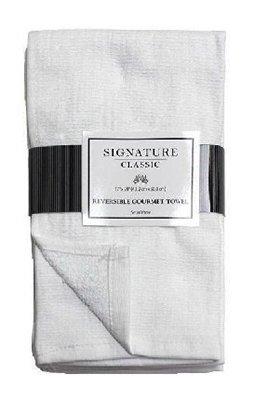 (J & M Home Fashions 3531 3PK 17x20 WHT Kit or Kitchen Towel - Quantity 3)