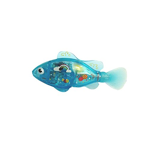 image Roblue Robot Poisson Natation Plongée Electrique Lumineux Turbot Clownfish Battery Powered Jouet Childen Enfants en Plastiques