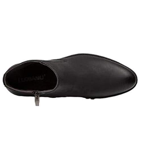 Caviglia Black Scarpe Lavoro In HGDR Con Uomo Chelsea Alla E Grigio Da Pelle Da Stivali Cerniera Stivaletti Neri Marrone Casual OY1q4