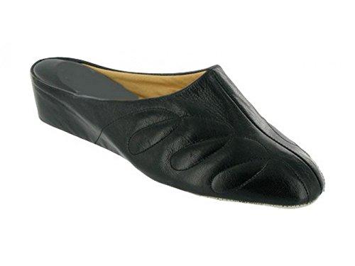Shuperb Navy Mahon Slippers Leather Black Ladies Mule wF8q0nzw