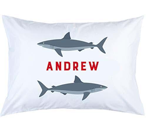 bf7ab283f99 Amazon.com: Personalized Shark Pillow Case - Children's Gift: Handmade
