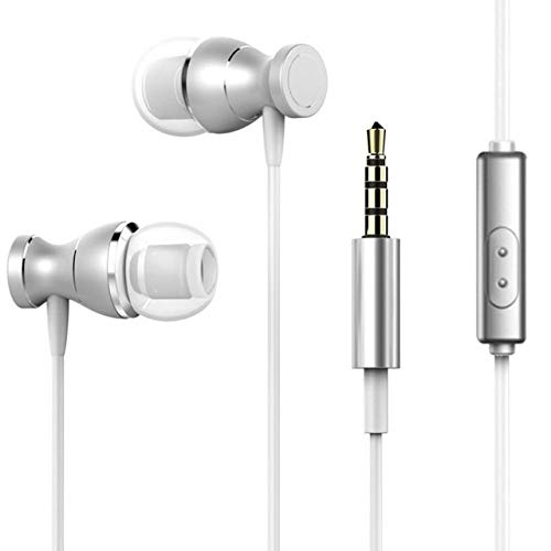 chenggongziWired Earbuds Headphones 3.5Mm In Ear Earphone Earpiece with Mic Stereo Headset Magnetic