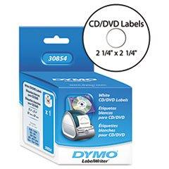-- CD/DVD Labels, 2-1/4in dia, White, 160/Box
