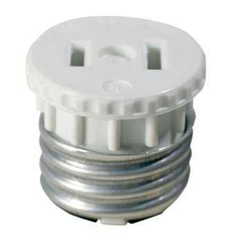 Socket Adapter - Socket to outlet - White