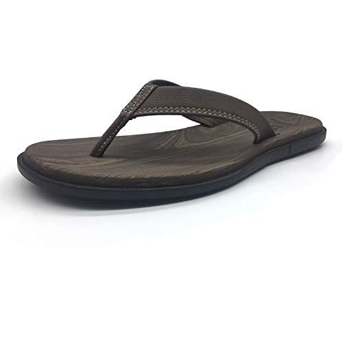 (Men Yoga Foam Flip Flops Arch Support Flat Cushioning Slip on Thong Sandals Shoes Rubber Sole)